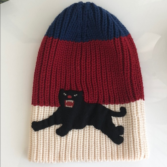 9f6607806ae Gucci Accessories - Gucci Web Wool Hat with Panther